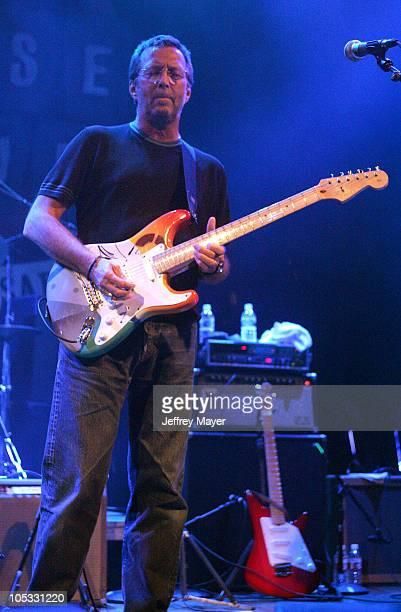 Eric Clapton during The Crickets and Friends in Concert at the House of Blues at House of Blues in West Hollywood California United States