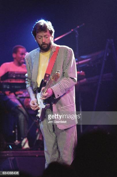 Eric Clapton performs at the St Paul Civic Center in St Paul Minnesota on April 18 1987