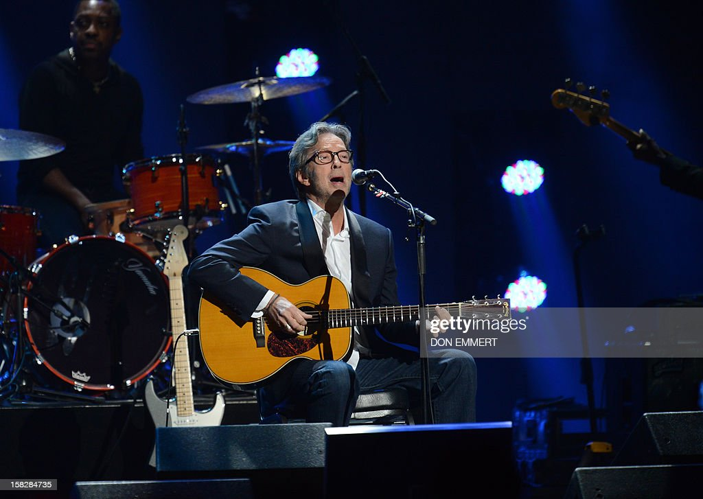 Eric Clapton performs during '12-12-12 ~ The Concert For Sandy Relief' December 12, 2012 at Madison Square Garden in New York.