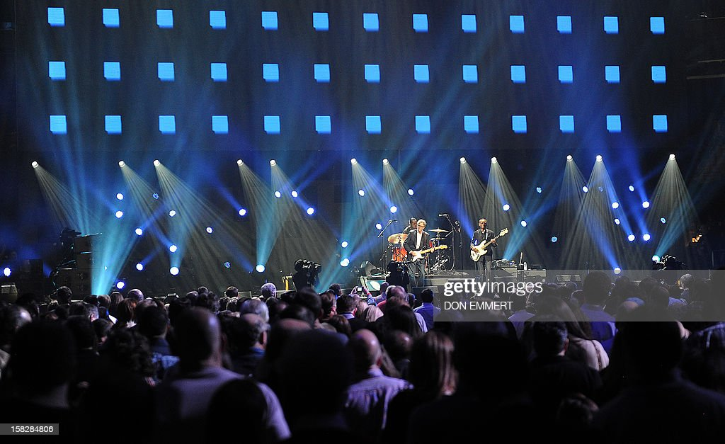 Eric Clapton performs during '12-12-12 ~ The Concert For Sandy Relief' December 12, 2012 at Madison Square Garden in New York. AFP PHOTO/DON EMMERT