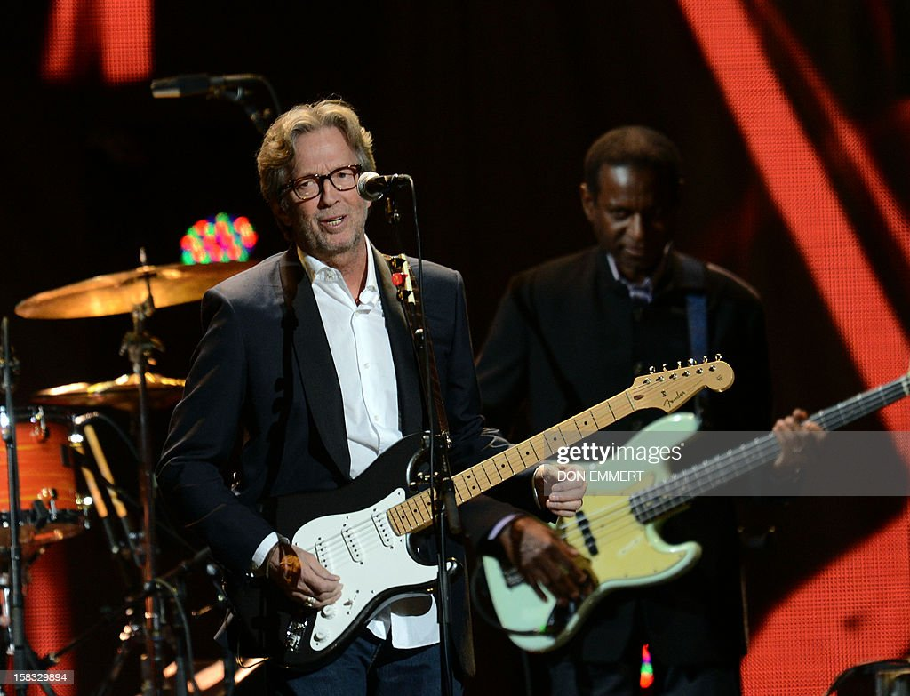 Eric Clapton performs during '12-12-12 The Concert For Sandy Relief' December 12, 2012 at Madison Square Garden in New York.