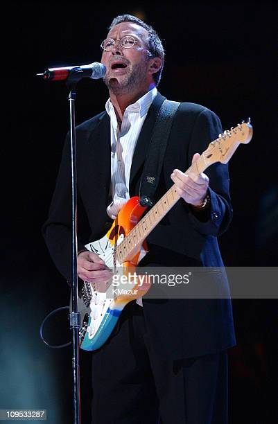 Eric Clapton performs during The Concert for New York City Show at Madison Square Garden in New York City New York United States
