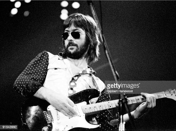 Eric Clapton performs live on stage at Ahoy Rotterdam on November 30 1974 during his 461 Ocean Boulevard European Tour