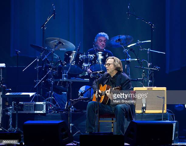 Eric Clapton performs on stage at O2 Arena on February 13 2010 in London England