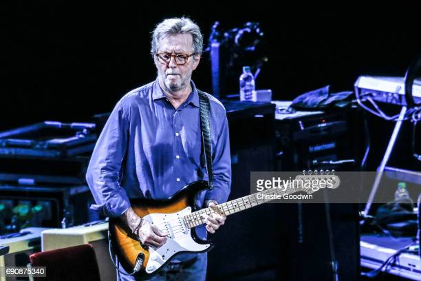 Eric Clapton performs on stage at the Royal Albert Hall on 21 May 2015 in London United Kingdom