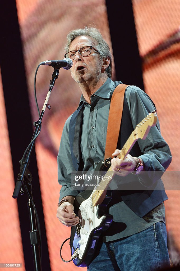 Eric Clapton performs on stage during the 2013 Crossroads Guitar Festival at Madison Square Garden on April 12, 2013 in New York City.