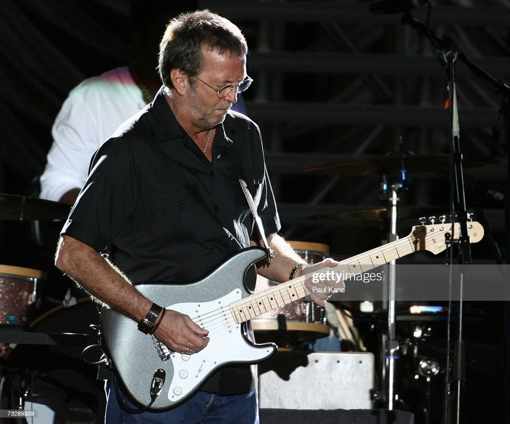 eric clapton plays perth getty images. Black Bedroom Furniture Sets. Home Design Ideas