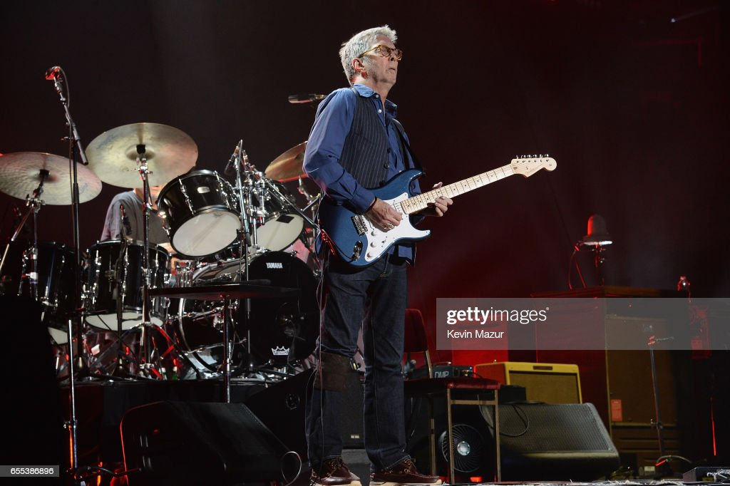 Eric Clapton performs onstage with his band at Madison Square Garden on March 19, 2017 in New York City.