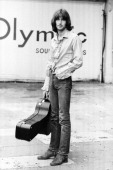 Eric Clapton poses for a portrait in July 1969 outside Olympic Studios during recording session with Blind Faith in London Great Britain