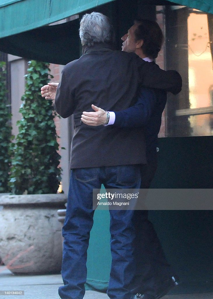 Eric Clapton (L) sighted with restaurant co-owner Philippe Delgrange at Le Bilboquet restaurant on February 28, 2012 in New York City.