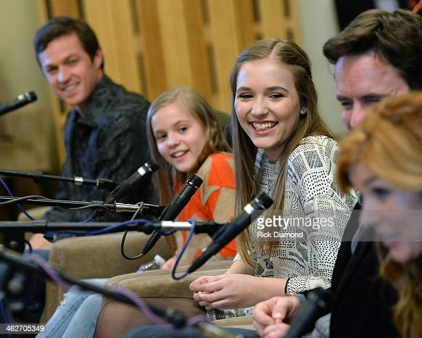 Eric Close Maisy Stella and Lennon Stella attend Cast Of ABC's 'Nashville' Answer Questions From Fans During A SiriusXM 'Town Hall' Special at...