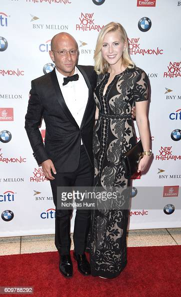 Eric Cole and actress Ashley Jones attend New York Philharmonic's Opening Gala Celebrating the 175th Anniversary Season at David Geffen Hall on...