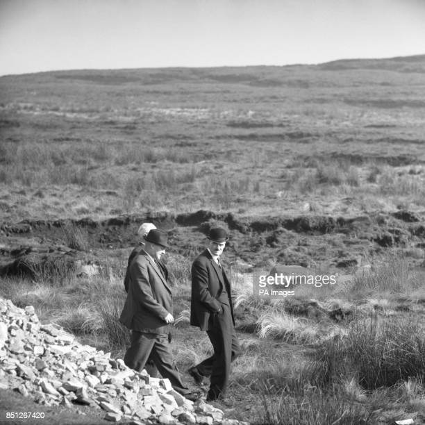 Eric Cunningham chief of the Northwest Regional Crime squad arriving at the crime scene on Saddleworth Moor near Woodhead where screens were erected...