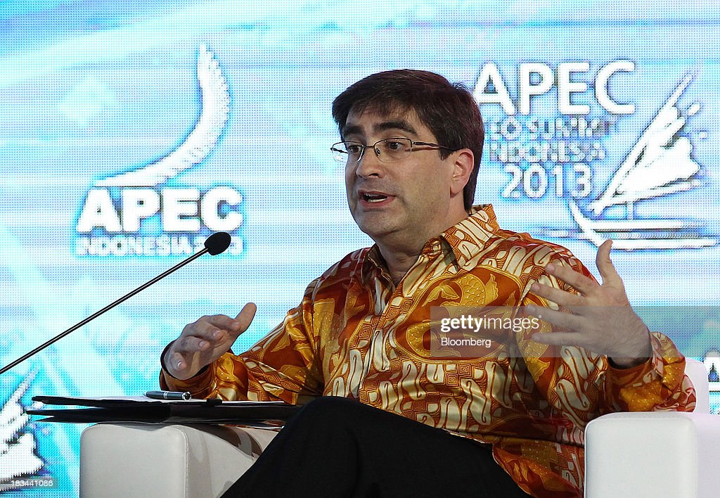 Eric D. Rudder, Executive Vice President of Advanced Strategy and Research at Microsoft Corp., speaks during a panel discussion at the Asia-Pacific Economic Cooperation (APEC) CEO Summit in Nusa Dua, Bali, Indonesia, on Sunday, Oct. 6, 2013. Global growth will probably be slower and less balanced than desired, ministers from the APEC member economies said as they agreed to refrain from raising new barriers to trade and investment. Photographer: SeongJoon Cho/Bloomberg via Getty Images
