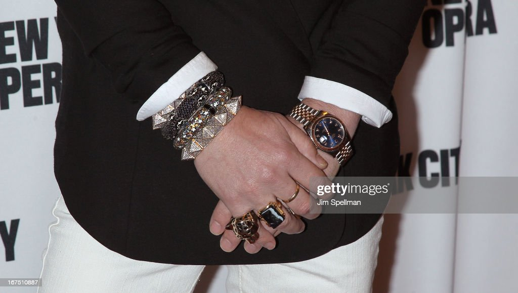 Eric Daman (jewelry detail) attends the 2013 New York City Opera Spring Gala at New York City Center on April 25, 2013 in New York City.
