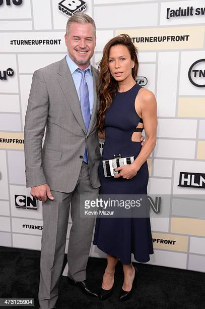 Eric Dane and Rhona Mitra attend the Turner Upfront 2015 at Madison Square Garden on May 13 2015 in New York City 25201_002_KM_0550JPG