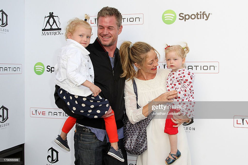 <a gi-track='captionPersonalityLinkClicked' href=/galleries/search?phrase=Eric+Dane&family=editorial&specificpeople=707708 ng-click='$event.stopPropagation()'>Eric Dane</a>, <a gi-track='captionPersonalityLinkClicked' href=/galleries/search?phrase=Rebecca+Gayheart&family=editorial&specificpeople=204784 ng-click='$event.stopPropagation()'>Rebecca Gayheart</a>-Dane and family attend the Guy Oseary's July 4th event in Malibu presented by Spotify and Live Nation with DeLeon and VitaCoco at Nobu Malibu on July 4, 2013 in Malibu, California.