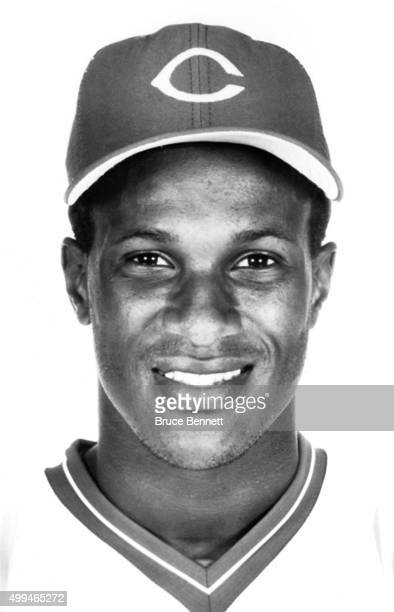 Eric Davis of the Cincinnati Reds poses for a portrait in March 1988 in Cincinnati Ohio