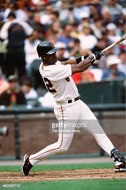 Eric Davis of the San Francisco Giants bats against the Los Angeles Dodgers at Pacific Bell Park on October 6 2001 in San Francisco California