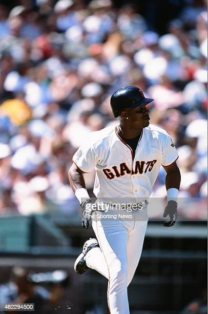 Eric Davis of the San Francisco Giants runs during a game against the St Louis Cardinals on July 1 2001 in San Francisco California