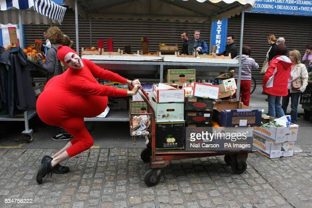 Eric Davis pushes a trolley on Dublin's Moore street Eric is one of the stars of this year's Dublin Fringe Festival which was launched today The...