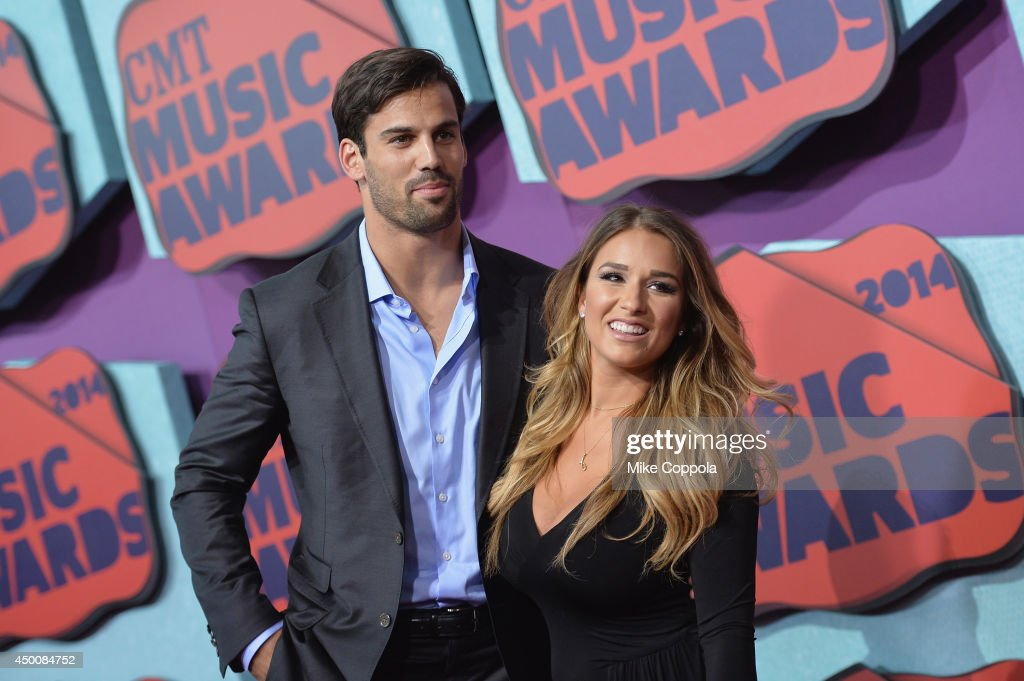 Eric Decker and <a gi-track='captionPersonalityLinkClicked' href=/galleries/search?phrase=Jessie+James+-+Country+Singer&family=editorial&specificpeople=6480712 ng-click='$event.stopPropagation()'>Jessie James</a> attend the 2014 CMT Music awards at the Bridgestone Arena on June 4, 2014 in Nashville, Tennessee.