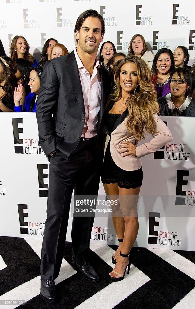 Eric Decker and Jessie James attend the E! 2013 Upfront at The Grand Ballroom at Manhattan Center on April 22, 2013 in New York City.