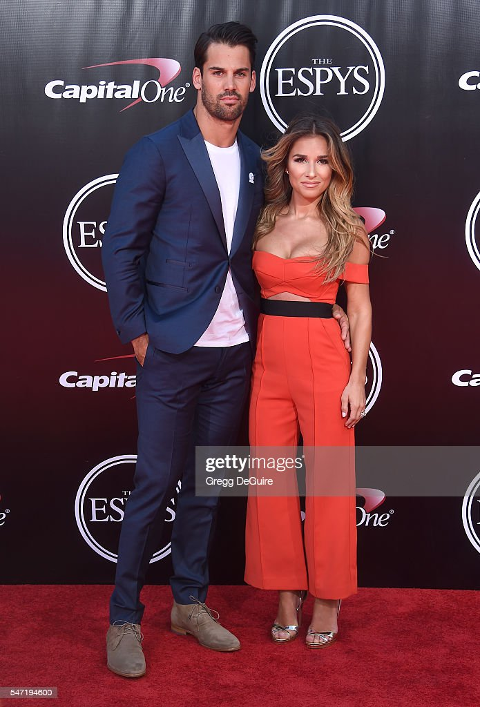 Eric Decker and Jessie James Decker arrive at The 2016 ESPYS at Microsoft Theater on July 13, 2016 in Los Angeles, California.