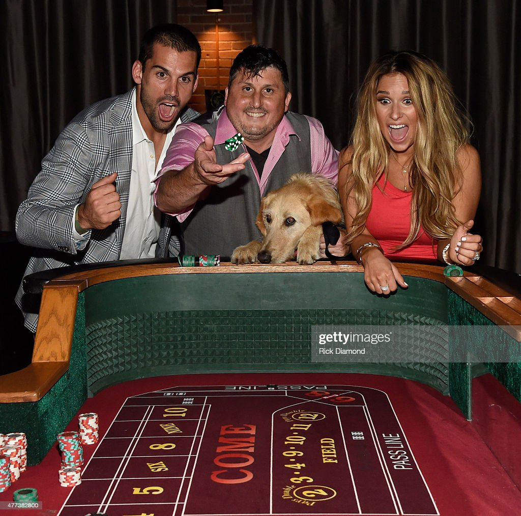 Eric Decker Ret Sgt US Army Shon Wilson Decker's Dog Rommy and Singer/Songwriter Jessie James Decker attend On Deck With The Deckers Hosted By The...
