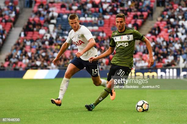 Eric Dier and Rodrigo Bentancur during the Tottenham Hotspur v Juventus PreSeason Friendly match at Wembley Stadium on August 5 2017 in London England
