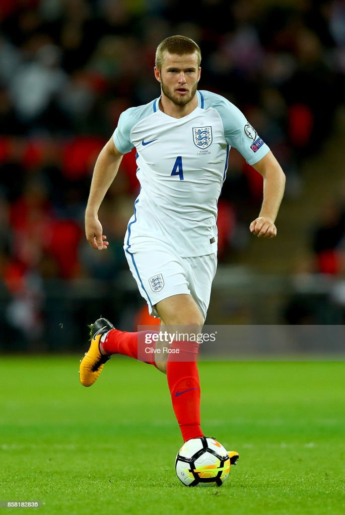 Eric Dier of England in action during the FIFA 2018 World Cup Group F Qualifier between England and Slovenia at Wembley Stadium on October 5, 2017 in London, England