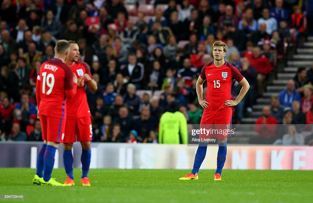 <a gi-track='captionPersonalityLinkClicked' href=/galleries/search?phrase=Eric+Dier&family=editorial&specificpeople=9440610 ng-click='$event.stopPropagation()'>Eric Dier</a> of England looks dejected after scoring an own goal during the International Friendly match between England and Australia at Stadium of Light on May 27, 2016 in Sunderland, England.