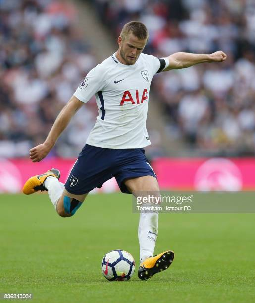 Eric Dier of Tottenham during the Premier League match between Tottenham Hotspur and Chelsea at Wembley Stadium on August 20 2017 in London England