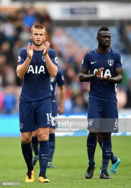 Eric Dier of Tottenham Hotspur and Davinson Sanchez of Tottenham Hotspur appluad the crowd after the Premier League match between Huddersfield Town...