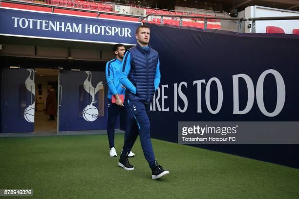 Eric Dier of Tottenham Hotspur arrives at the stadium prior to the Premier League match between Tottenham Hotspur and West Bromwich Albion at Wembley...
