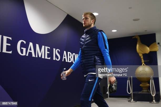 Eric Dier of Tottenham Hotspur arrives at the stadium prior to the Premier League match between Tottenham Hotspur and Stoke City at Wembley Stadium...