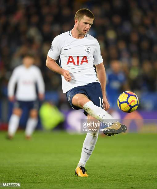 Eric Dier of Tottenham Hotspur clears the ball during the Premier League match between Leicester City and Tottenham Hotspur at The King Power Stadium...