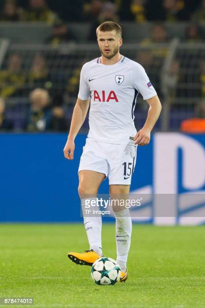 Eric Dier of Tottenham Hotspur controls the ball during the UEFA Champions League group H match between Borussia Dortmund and Tottenham Hotspur at...