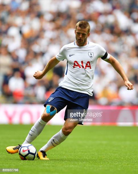 Eric Dier of Tottenham Hotspur FC during the Premier League match between Tottenham Hotspur and Chelsea at Wembley Stadium on August 20 2017 in...