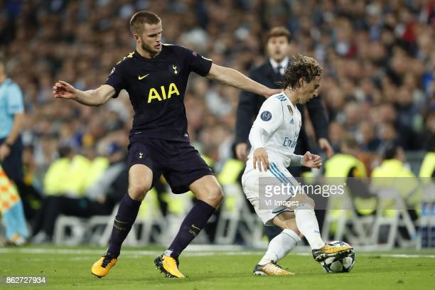 Eric Dier of Tottenham Hotspur FC Luka Modric of Real Madrid during the UEFA Champions League group H match between Real Madrid and Tottenham Hotspur...