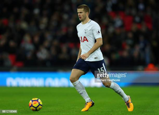 Eric Dier of Tottenham in action during the Premier League match between Tottenham Hotspur and West Bromwich Albion at Wembley Stadium on November 25...