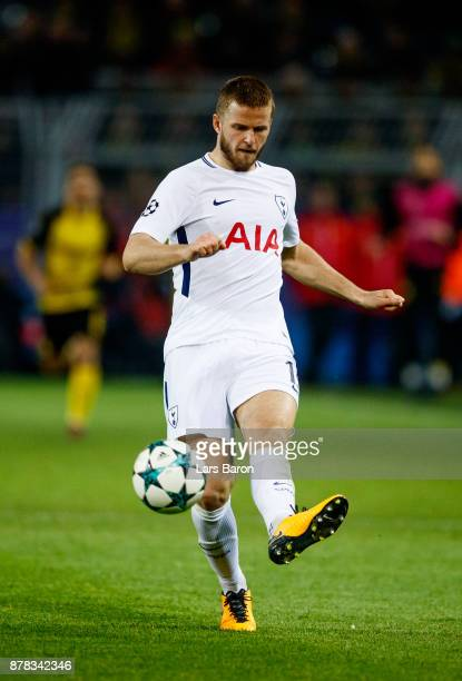 Eric Dier of Tottenham runs with the ball during the UEFA Champions League group H match between Borussia Dortmund and Tottenham Hotspur at Signal...