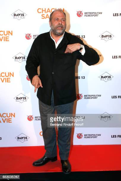 Eric DupondMoretti attends the 'Chacun sa vie' Paris Premiere at Cinema UGC Normandie on March 13 2017 in Paris France