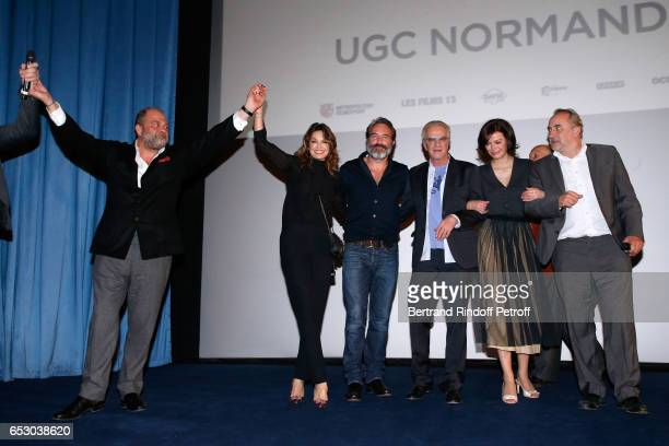 Eric DupondMoretti Nadia Fares Jean Dujardin Christophe Lambert Marianne Denicourt and Antoine Dulery attend the 'Chacun sa vie' Paris Premiere at...