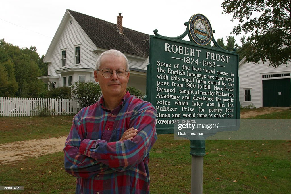Eric Eldred poses in front of Robert Frost's home Eldred is the editor at Eldritch Press a publisher of free books on the World Wide Web He is the...
