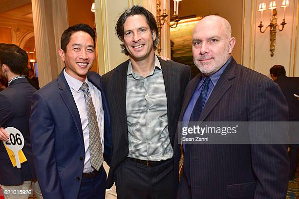 Eric Elizaga Jay Ptashek and Dan Moynihan attend NYAWC 34th Phoenix Awards at Essex House on November 3 2016 in New York City