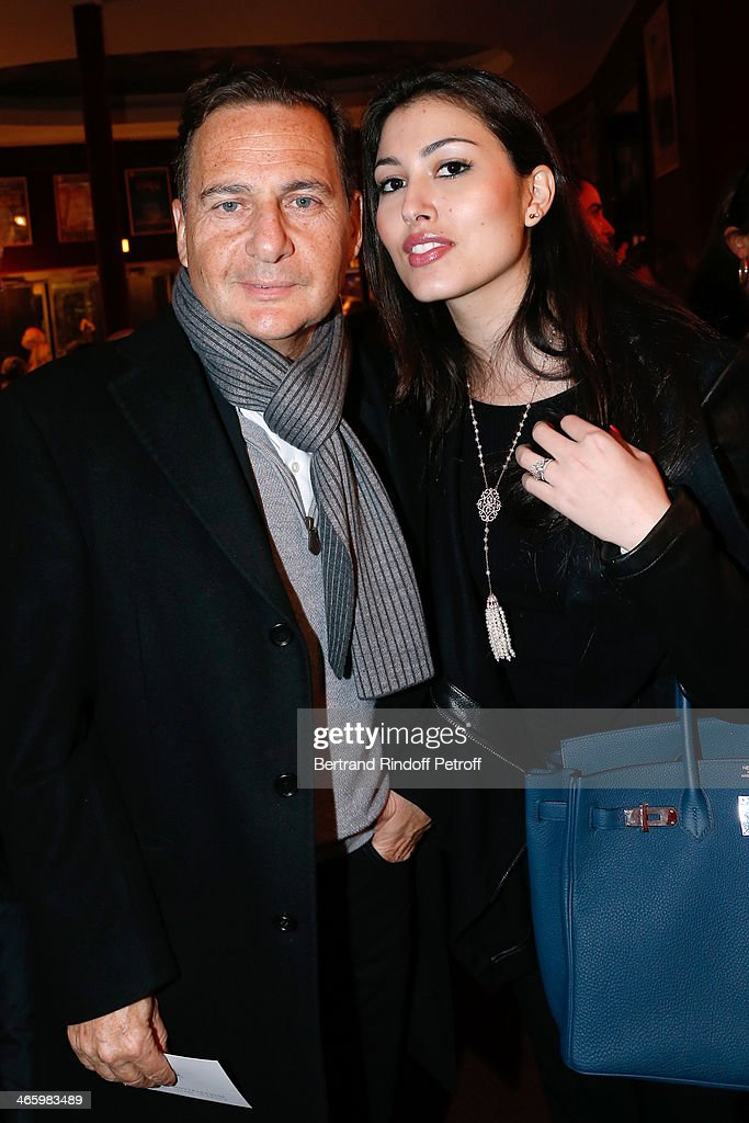 Eric esson and his wife Yasmine Besson attend 'Un Temps De Chien' - Theater Gala Premiere to Benefit ARSEP Foundation. Held at Theatre Montparnasse on January 30, 2014 in Paris, France.