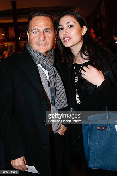 Eric esson and his wife Yasmine Besson attend 'Un Temps De Chien' Theater Gala Premiere to Benefit ARSEP Foundation Held at Theatre Montparnasse on...