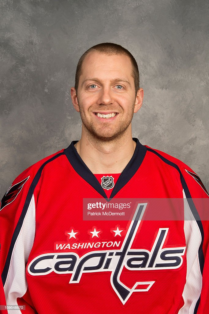 Eric Fehr of the Washington Capitals poses for his official headshot for the 2012-2013 season on January 12, 2013 at the Kettler Capitals Iceplex in Arlington, Virginia.