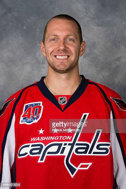 Eric Fehr of the Washington Capitals poses for his official headshot for the 20142015 season on September 18 2014 at the Kettler Capitals Iceplex in...